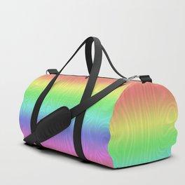 Groovy Pastel Rainbow Duffle Bag