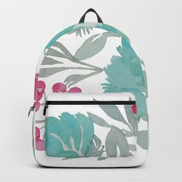 Blue Beach Flowers Backpack