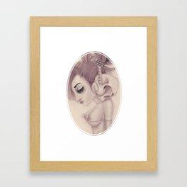 dearpain +Cold Audibility+ Framed Art Print