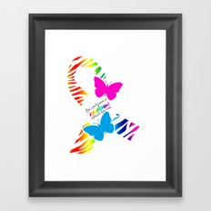 You can't have a Rainbow without the Rain - Awareness Ribbon - Commissioned Work Framed Art Print