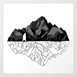 Mountains Bear Art Print