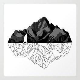 Mountains Bear Art Print