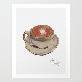 Coffee Lines Art Print