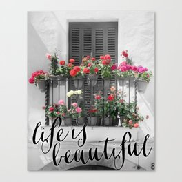 Life is beautiful, Spain photography Canvas Print