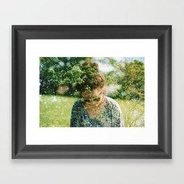 Double exposure. Framed Art Print