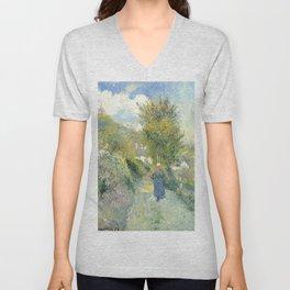 """Camille Pissarro """"Chemin de Pontoise, Auvers-sur-Oise"""" Unisex V-Neck"""