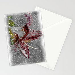 Caress of a summer shower Stationery Cards