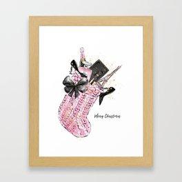 Merry ChristmasFashion Illustration Framed Art Print