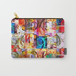 Geometric Botanicals 6 section 4 Carry-All Pouch