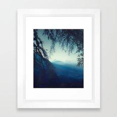 blue morning - vertical tapestry Framed Art Print
