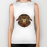 wildlife Biker Tanks featuring wildlife unleashed by Christophe Chiozzi