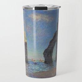 Claude Monet's The Cliffs at Etretat Travel Mug