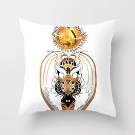 Cosmic Copperhead Dragon Throw Pillow