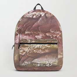 Rosy brown clouded watercolor Backpack
