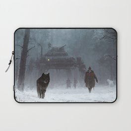 winter walk through the woods Laptop Sleeve