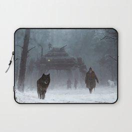 winter walk through the woods Laptop Sleeve