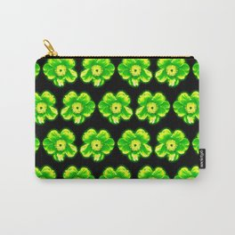 Green Flower Girly Pattern Carry-All Pouch