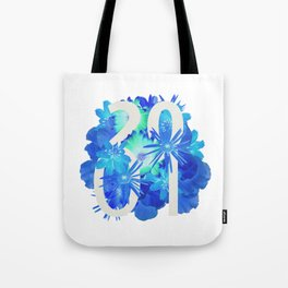 Blue Flower 2001 Tote Bag