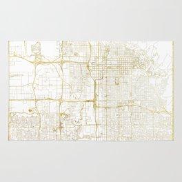 Salt Lake City Map Gold Rug