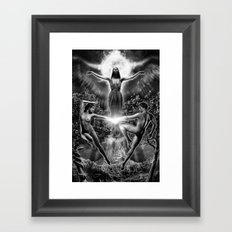 VI. The Lovers Tarot Illustration Framed Art Print