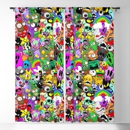 Monsters Doodles Characters Saga Blackout Curtain