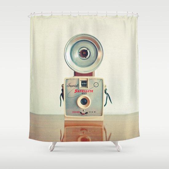 Satellite Shower Curtain