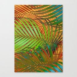 TROPICAL LEAVES POP-ART no2 Canvas Print