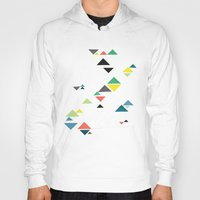 triangles Hoodies featuring Triangles by Cassia Beck