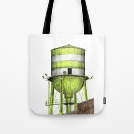 Montreal's Water Tower (Lachine Canal) Tote Bag
