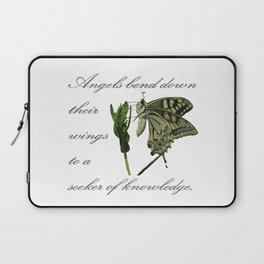 Angels Bend Down Their Wings To A Seeker Of Knowledge Laptop Sleeve
