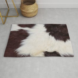 Brown and White Cowhide, Cow Skin Pattern, Farmhouse Decor Rug