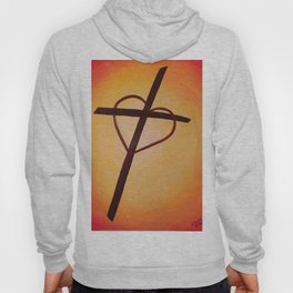 Heart Cross on Orange Hoody