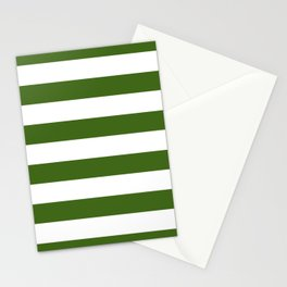Simply Stripes in Jungle Green Stationery Cards