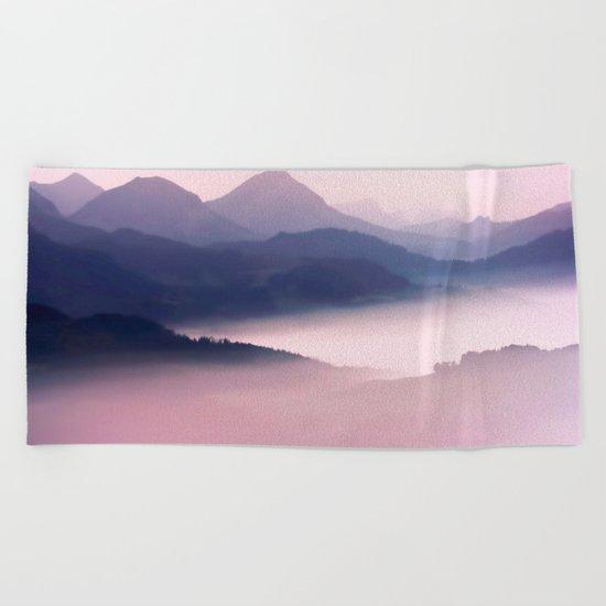 Foggy Mountains II Beach Towel