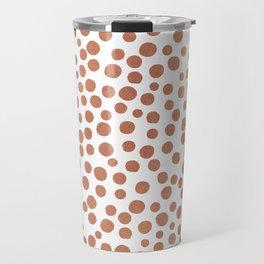 Copper Polka Dots Travel Mug