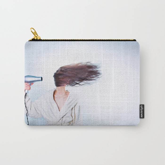 hair comic wind 4 Carry-All Pouch
