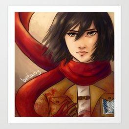 Mikasa Ackerman Art Print