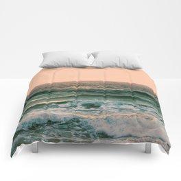 Pink Skies Ocean Vibes Comforters