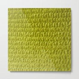 Yellow Bubble Row Textile Photo Art Metal Print