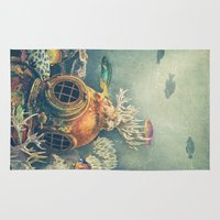 nautical Area & Throw Rugs featuring Seachange by Terry Fan