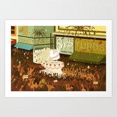 A Poo Parade Art Print