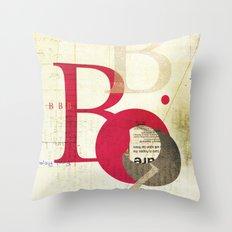 Perpetua B Throw Pillow