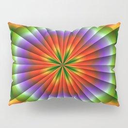Pulsating Rainbow Wheel Pillow Sham