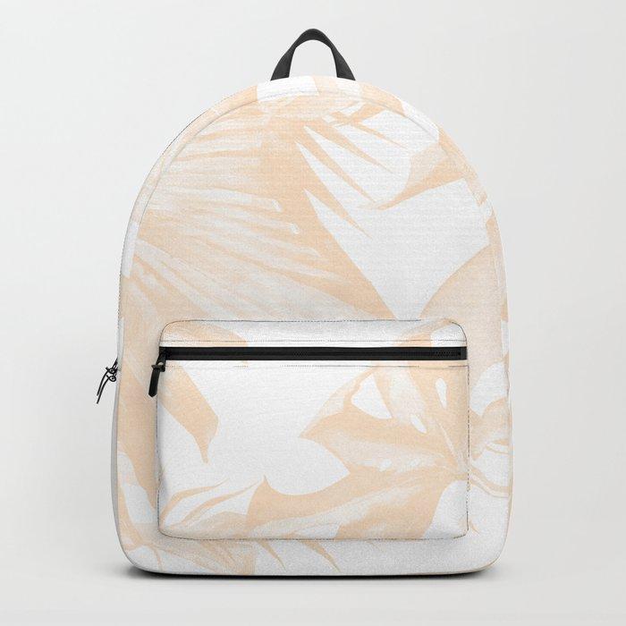 Island Vacation Hibiscus Palm Light Mango Backpack
