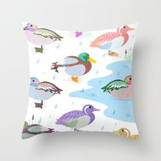 Nice Weather For Ducks Throw Pillow