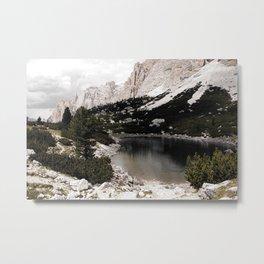 Alpine Lake Mountains Forest Metal Print