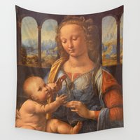 da vinci Wall Tapestries featuring Leonardo da Vinci by Palazzo Art Gallery
