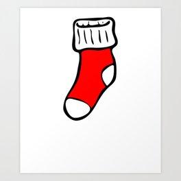 Christmas I'm Well Hung Stocking Art Print
