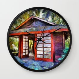 Tea House in the Forest Wall Clock