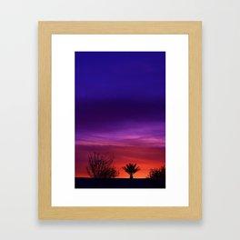 Desert SW Sunset Framed Art Print